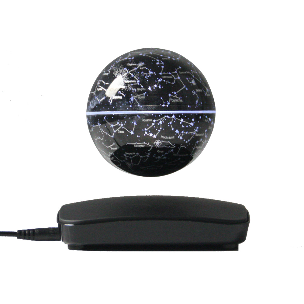 New Strange Gift Study Room Bedroom Magnetic Levitation 3 Inch Earth Globe Circle Base  Floating Seven Colors Light