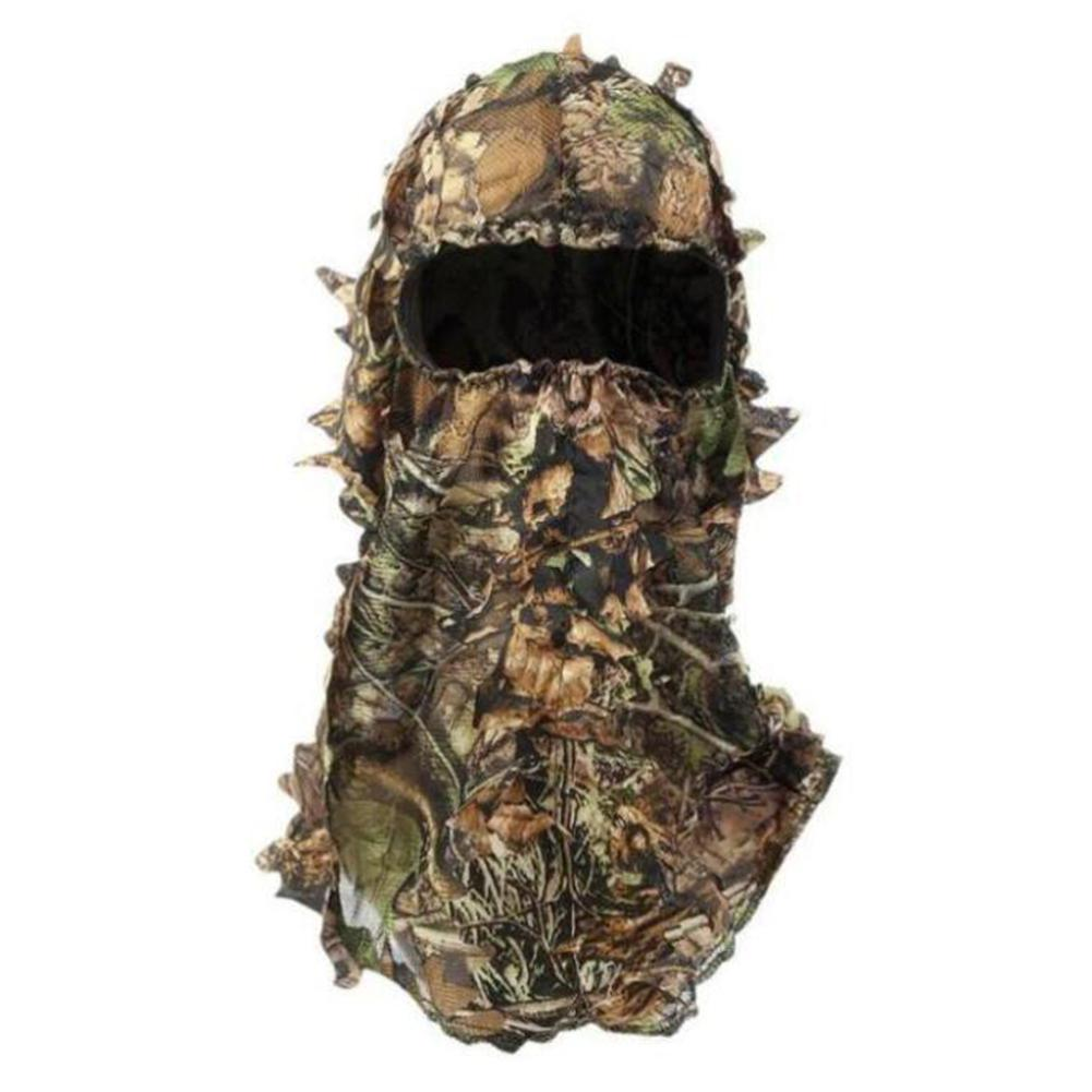 Outdoor Hunting Maple Leaf Pattern Camouflage Ghillie Suits Caps Gloves Hood Head Net Eyehole Opening Scarf Hunting Equipment