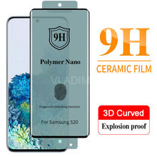 Full Glue Soft Curved Ceramic Tempered Glass For Samsung Galaxy S20 Ultra S10 S9 S8 Note 8 9 10 Plus Screen Protector film