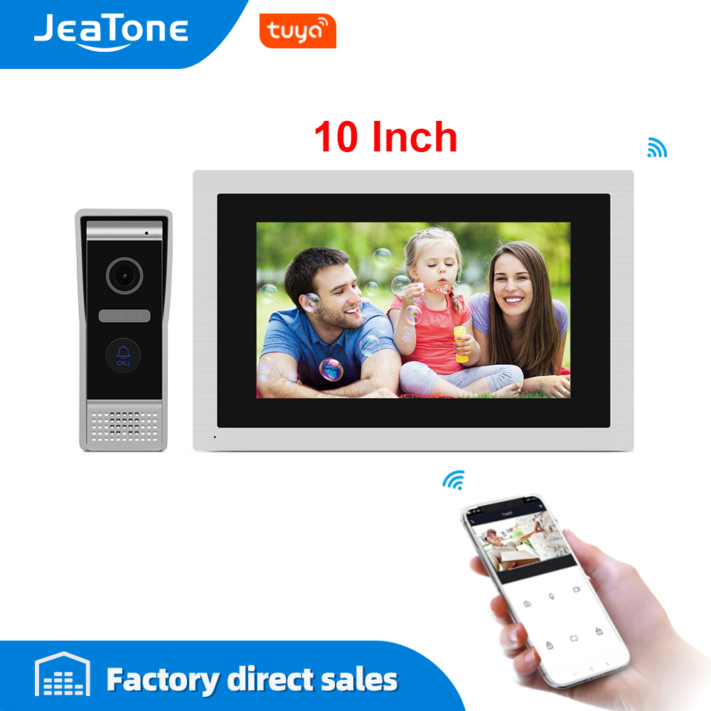 JeaTone 10 Inch Touch Screen WIFI IP Video Door Phone Intercom System Villa Apartment Access Control System Motion Detection