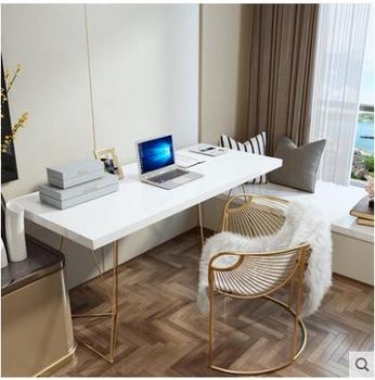 Biurko komputerowe z litego drewna proste biurko styl skandynawski proste biurko do pisania sypialnia nowoczesne biurko stół domowy tanie i dobre opinie Mesh krzesło Krzesło biurowe Meble sklepowe Meble biurowe Metal