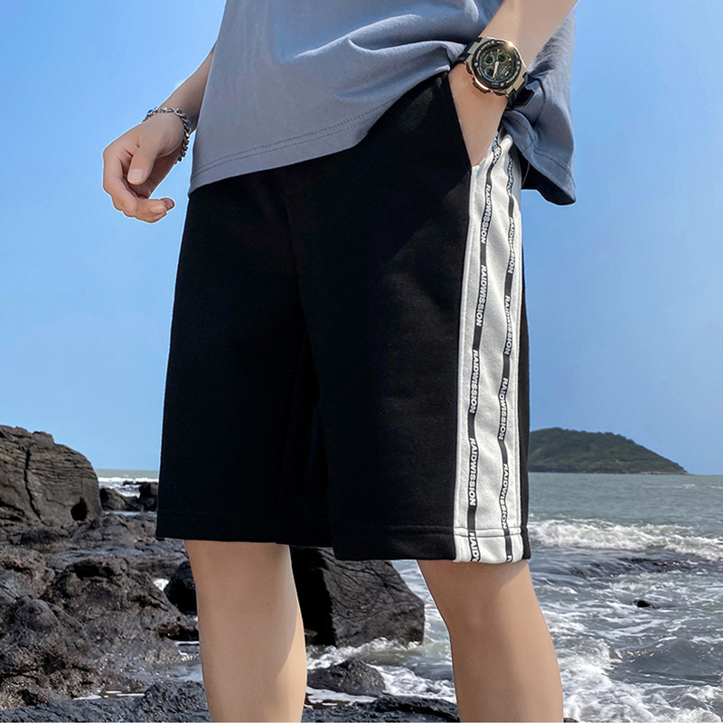 Summer Men Shorts Loose Side Stripe Patchwork Home Men's Shorts Casual Beach Shorts Board Shorts