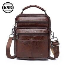 Men's Shoulder Bag Genuine Leather Bag Crossbody Bags For Men Messenger Bags Luxury Handbag Fashion Flap Shoulder Handbag KSK