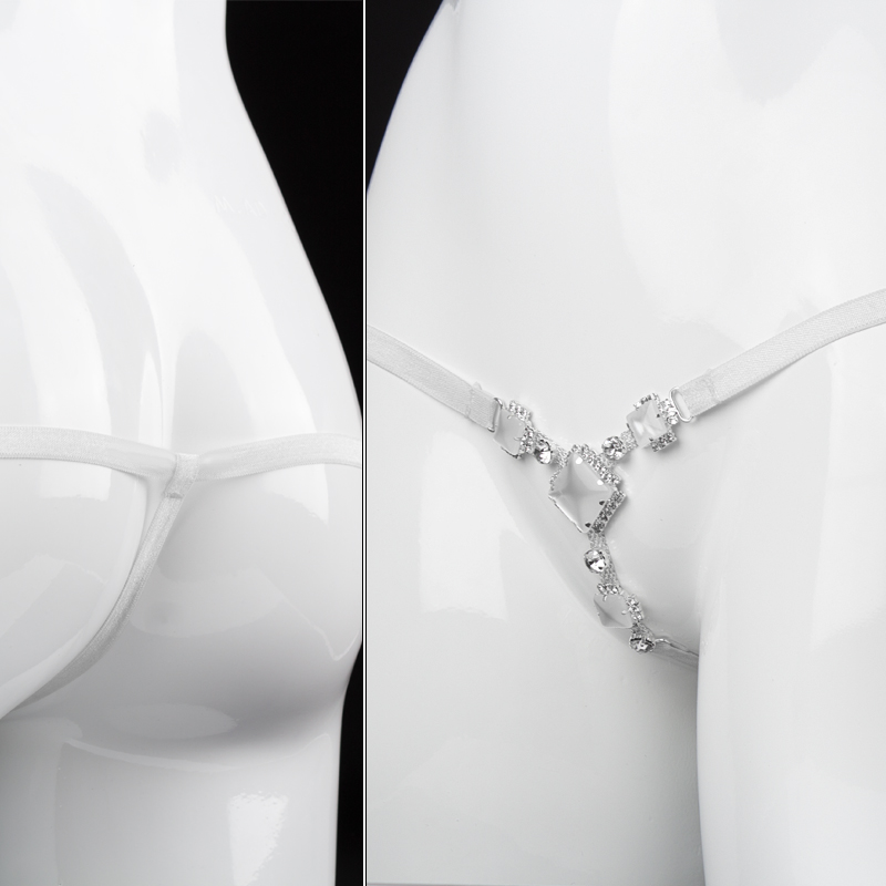 Transparent T pant exotic female chemise apparel glass sexy lingerie porno bondage restraints sex adult lingerie sexy hot erotic in Babydolls Chemises from Novelty Special Use