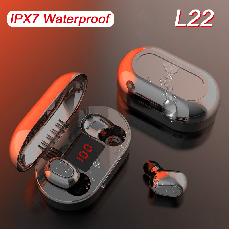 Arlado L25 Wireless Bluetooth Earphone  L22 Earbuds With Led Display L21 Headphones Waterproof Noise Cancelling Headsets