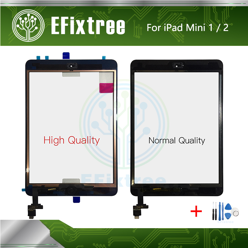 New A+ A1455 A1454 <font><b>A1432</b></font> A1489 A1490 Touch Panel Front Glass LCD <font><b>Display</b></font> For <font><b>iPad</b></font> mini 1 2 Digitizer With Home Button Sticker image
