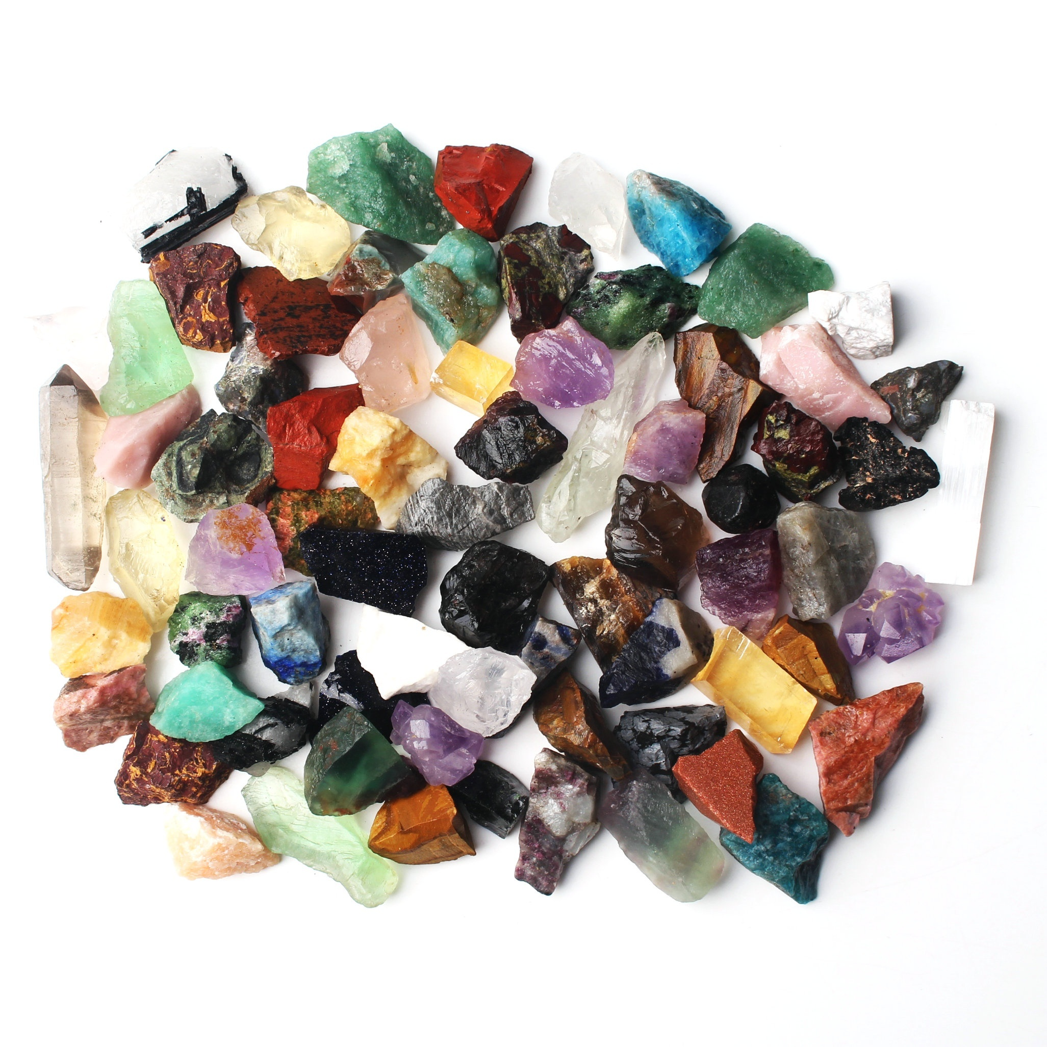 100 200 300g Lot Bulk Mixed Crafters Gems Crystal Natural Rough Raw Mineral Rocks Collection Stone