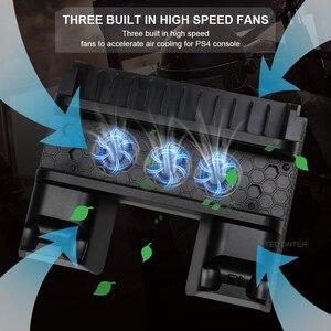 Image 2 - Per PS4/PS4 Slim/PS4 Pro supporto verticale con ventola di raffreddamento caricatore doppio Controller stazione di ricarica per SONY Playstation 4 Cooler