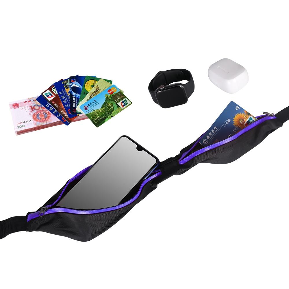 Buylor Sports Waist  Bag Women Running Bum Bag Jogging Phone Pocket Portable Waterproof Belt Bag  for Cycling Hiking Anti-theft