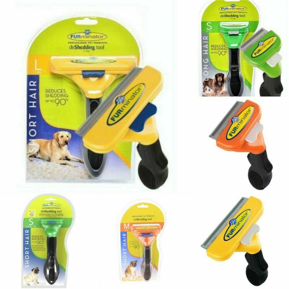 Furminator инструмент для вычесывания, щетка для груминга собак, грабли, расческа для длинных и коротких шерстей, средство для удаления шерсти до...