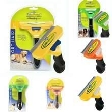 Furminador ferramenta de desmancha grooming cães escova ancinho pente longo cabelo curto pet removedor de pêlos massagem escova de limpeza de pele aparar