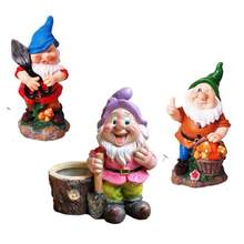 HARZ ZWERGE GNOME GARTEN DEKORATION OUTDOOR STATUE DECOR RASEN UND HOF TIER DEKORATION(China)