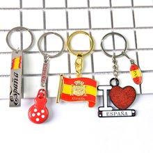 I Love Espana Keyring Keychain Heart Shape Spain Flag Mental Car Keychains for Men Ladybug Rhinestone Souvenir Key Pendant Gifts i albéniz espana op 165