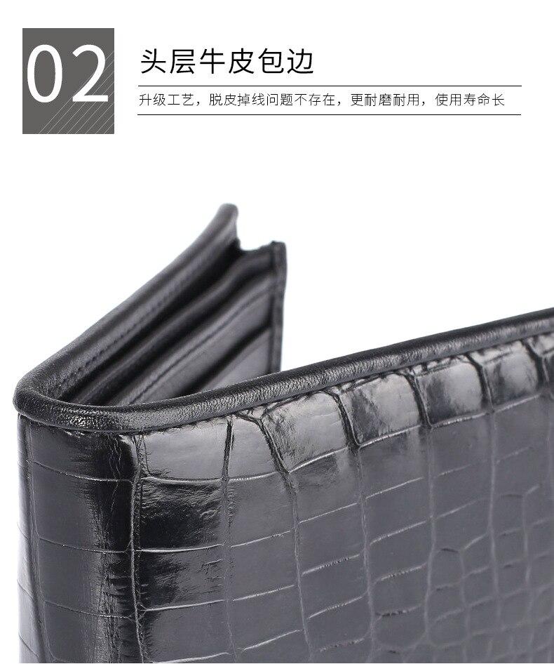 mão saco de couro breve parágrafo contas clip men crocodilo bolsa