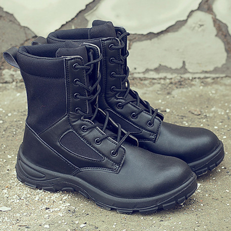 Military Combat Boots Men Sneakers Casual Shoes Outdoor Work Safety Boots Anti Smashing Puncture Proof Comfortable Shoes Army