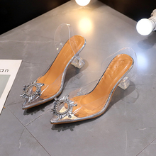 New Summer Women Elegant Pumps Sky High Heels Bling Crystal Shoes Woman Sexy Ladies Party Club Dress Transparent Slippers|Slippers| |  - AliExpress