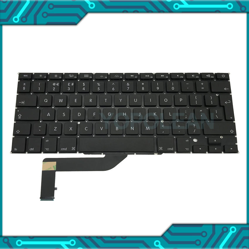 Uk-English-Keyboard A1398 for Macbook Pro Retina 15inch Layout New