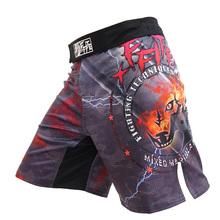 Mens boxing pants printing MMA Shorts Fight Grappling Short Polyester Kick Gel Boxing Muay Thai Pants thai shorts mma