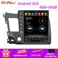 Вертикальный экран KiriNavi 12,1 дюйма Tesla 1 Din Android 10,0 Авторадио для Honda Civic автомобильный Dvd мультимедийный плеер стерео 4G 2008-2011