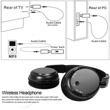TV Wireless Headset Rechargeable Multifunction Stereo Headphones Ecouteur with r