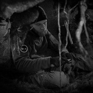 Image 5 - Chaqueta con capucha a prueba de viento para hombre, forro polar táctico para tiro de montaña, micro térmico, polar, ropa militar transpirable