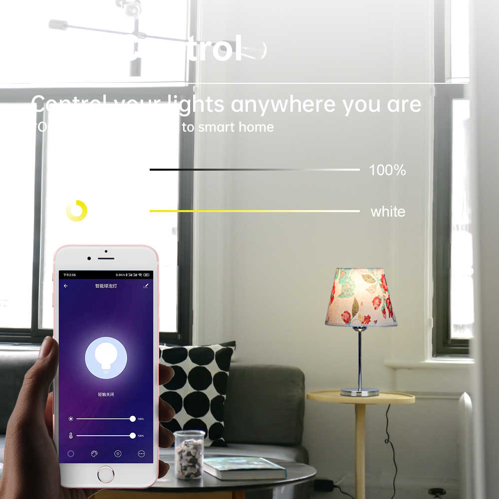 Smart Wifi App Afstandsbediening Led Bureaulamp 9W AC85-265v Intelligente Led Tafel Studeren Lamp Rgbw Amazone Alexa Lezen licht