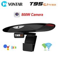 VONTAR T95C1 2GB 16GB 800W pixel Della Macchina Fotografica TV BOX Android 9.0 Astuto TVBOX 2.4 & 5G wifi 100M Supporto 1080P 4K Youtube Lettore Multimediale