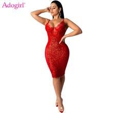 Женское сексуальное кружевное Сетчатое платье adogirl в стиле