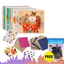 Diy Art Craft Pompoms Rainbow Colors Shilly-Stick Educational DIY Toys Handmade Art Craft Creativity Devoloping Handicraft Toys