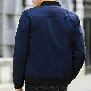 Image 3 - MANTLCONX plus récent solide automne hommes vestes mâle décontracté fermeture éclair été veste hommes printemps décontracté Outwear hommes mince veste homme automne