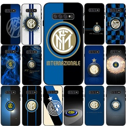 Inter club Silicone Phone Case for Samsung S6 Edge S7 Edge S8 S9 S10 S20 Plus S10E S10 Lite S20 S20 Lite S20 Fe Cover