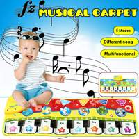 5 Music Modes 70X27cm Baby Music Play Carpet Mat Children Crawling Piano Carpet Educational Musical Toy Kids Touch Play Game Mat