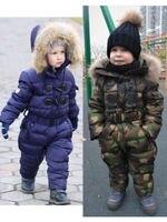 Children's winter 90% down jacket girls boys snow wear baby kids coats jumpsuit
