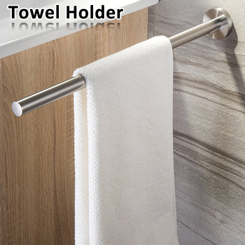 Towel Holder 40cm Stainless Steel Kitchen Bathroom Towel Holder for Towels Bar Rail Hanger Towel Rack
