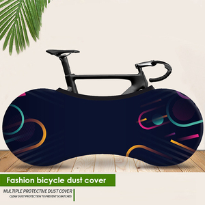 """Image 2 - HSSEE 2020 MTB road bike cover high quality elastic fabric 26 """" 28"""" bicycle indoor dust cover genuine tire protection cover"""