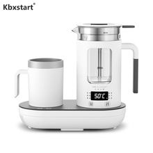 Купить с кэшбэком Multifunction 220V Electric Water Kettle Thickened Borosilicate Glass Health Pot Tea Maker Travel Water Boiler With Colding Cup