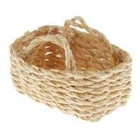 1/12 miniatur Woven Bambus Körbe Puppenhaus Handgemachte Handwerk Ornamente