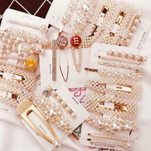 3Pcs/Set Fashion Pearl Hair Clip Snap Button Hair Pins for Women Sweet Pearl Hairpin Hair Clips Jewelry Lady Barrette Stick ubuhle fashion women full pearl hair clip girls hair barrette hairpin hair elegant design sweet hair jewelry accessories 2019