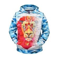 Lion 3D Hoodie Sweatshirt Mens Hip Hop Pullover Hoodies Streetwear Casual Fashion Clothes Hipster Autumn 2019 Male Sportswear
