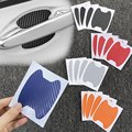 4Pcs/Set Car Door Stickers Carbon Fiber Scratches Resisitant Cover Auto Handle Protection Film Styling car Accessories Exterior