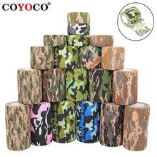 2.5cm bandage camuflagem esportes envoltório elástico fita arma caça disfarce elastoplast joelho dedo tornozelo pulso auto adesivo
