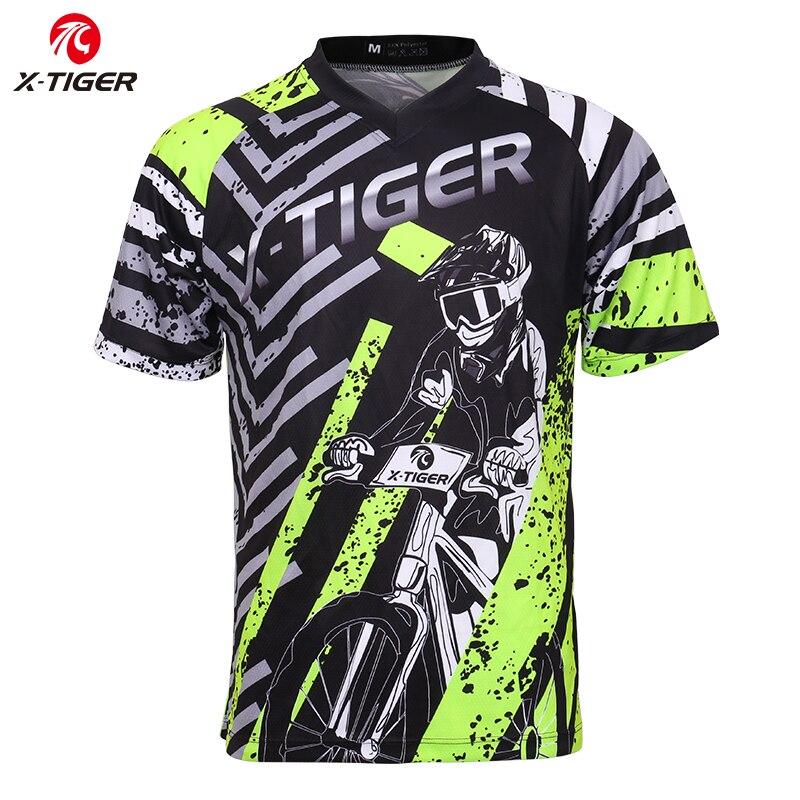 X-Tiger Brand Downhill Jerseys 100% Polyester Cycling Jerseys Downhill Clothes Mountain Bike Shirt Motocross Sports Racing Wear