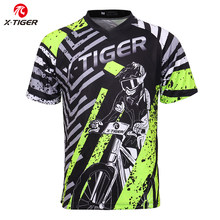 X-Tijger Merk Downhill Jerseys 100% Polyester Wielertruien Downhill Kleding Mountainbike Overhemd Motorcross Sport Racing Wear(China)