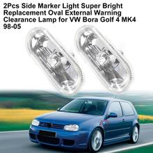 2Pcs Side Marker Light Housing Accessory Replacement Oval External Warning Clearance Lamp Bezel 1J0949117 for VW Bora Golf 4 MK4