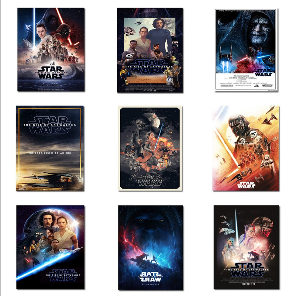 2019 New Star Wars Posters HD Classic Movie Wall Pictures Prints Home Decoration for Bedroom Living Room Home Decor Wall Art image