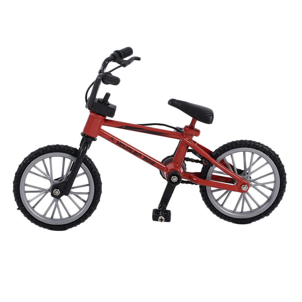OCDAY Simulation Alloy Finger Bmx Bikes Children Mini Size Fingerboard Bicycle Toys With Brake Rope Gift Funny