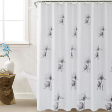 цена на 2019 Beautiful Ink Painting Shower Curtain Polyester Mildew Resistant Bath Curtain Waterproof Elegant Bathroom Curtain Wholesale