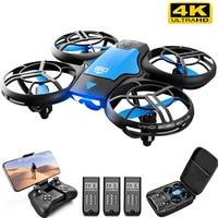 V8-Mini Dron 4K con cámara HD, 1080P, WiFi, Fpv, presión de aire, altura de mantenimiento, plegable, RC, juguete para regalo