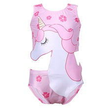 Baby Cute Unicorn Swimsuit 2019 Children Small Medium And Large Kids Hot Spring Beach-wear Girl Swimming Set Bathing Clothes