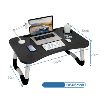 Portable Laptop Table for Bed or Sofa Folding Laptop Desk for Reading Study